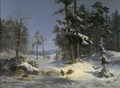 Winter Landscape from Queen Christina's Road in Djurgården, Stockholm (Kung Karl XV) - Nationalmuseum - 18205.tif