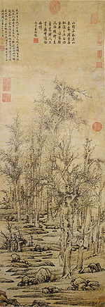 Wintry trees after Li Cheng, by Wen Zhengming (1470 - 1559)