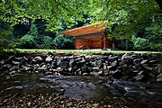 The Meadow Pavilion is one of the theaters at Wolf Trap National Park for the Performing Arts.