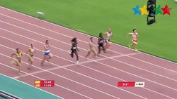 ファイル:Women's 100M Final - 28th Summer Universiade 2015 Gwangju.webm