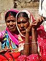 Women along Ghats - Varanasi - Uttar Pradesh - India (12498656513).jpg