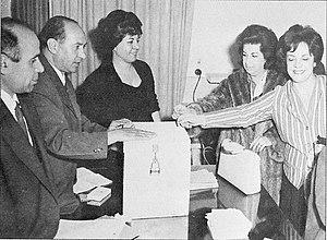 Iranian referendum, 1963 - Women voting in the referendum