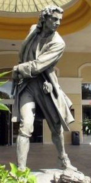 Woodes Rogers - Statue of Woodes Rogers outside the Hilton British Colonial Hotel, Nassau
