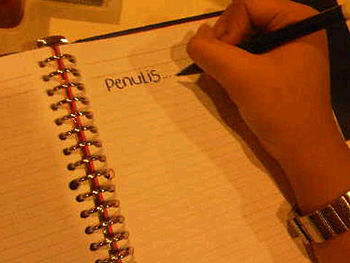 English: penulis = writer