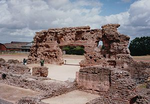 Wroxeter - The ruins of Viroconium's public baths at Wroxeter