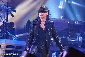 Toshi (musician) - Toshi with X Japan in Madison Square Garden in 2014