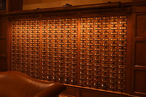 Library catalog - Card catalog at Yale