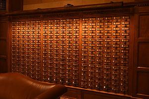 Library catalog - Card catalog at Yale