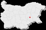 Karte von Bulgarien, Position von Jambol hervorgehoben