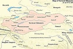 Localização de Yarkent Khanate