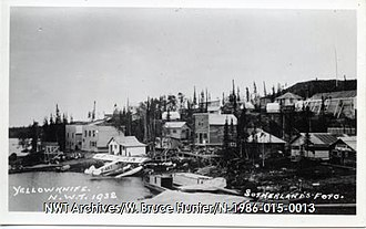 Yellowknife - View of Yellowknife from Back Bay. In the 1930s, the area was home to a number of prospectors