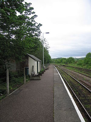 Yeoford railway station - Image: Yeofordplat