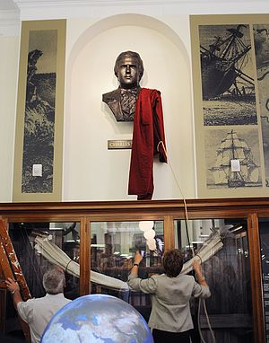 Sedgwick Museum of Earth Sciences - Unveiling of the Young Darwin bust at the museum in 2009.