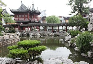 Yu Garden - Another view of the Pavilion of Listening to Billows.