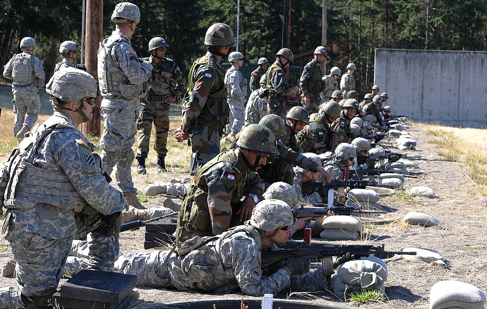 Yudh Abhyas 2015 Soldiers familiarize with INSAS 1B1