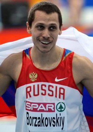 2008 European Athletics Indoor Cup - The 2004 Olympic champion Yuriy Borzakovskiy was one of the meetings most prominent stars.