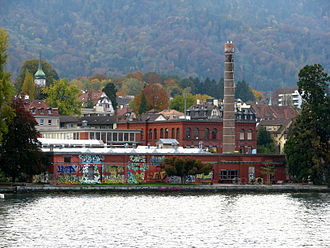 Rote Fabrik - View from the lake