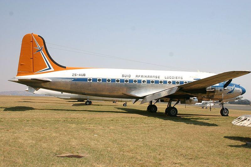 File:ZS-AUB Douglas DC-4 Suid Afrikaanse Lugdiens (7684903638).jpg