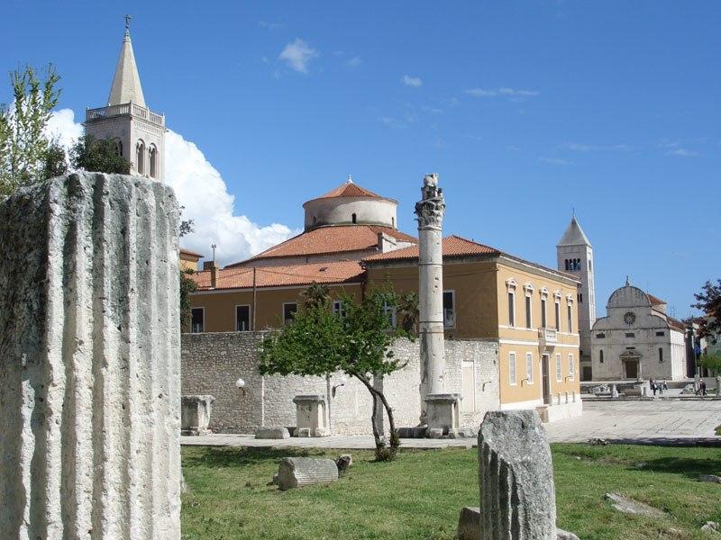 The ancient Roman forum in Zadar.