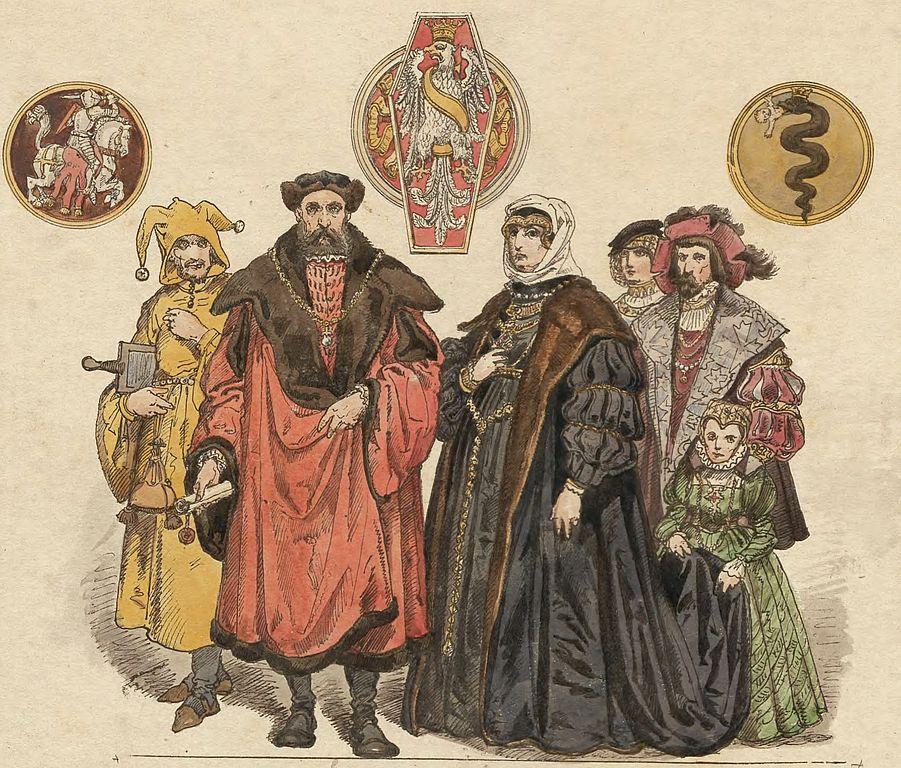 Il re di Polonia Zygmunt il Vecchio e la regina Bona Sforza da Matejko.