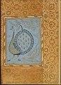 """Calligraphic Composition in Shape of Peacock"", Folio from the Bellini Album MET DT4838.jpg"