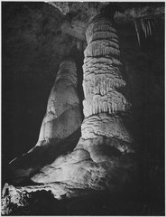 """The Giant Dome, largest stalagmite thus far discovered. It is 16 feet in diameter and estimated to be 60 million years - NARA - 520029.tif"