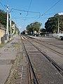 'Magdolna utca' tram stop and switch at Fiume Road National Graveyard, 2018 Józsefváros.jpg