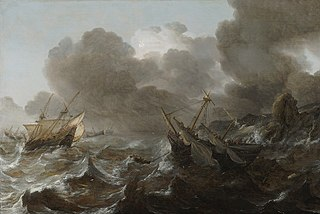 Ships in Distress on a Stormy Sea