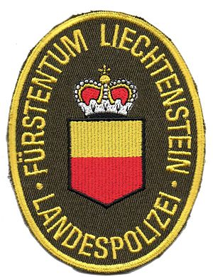 Law enforcement in Liechtenstein - Image: Ärmelabzeichen Landespolizei Liechtenstein