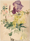 Édouard Manet - Flower Piece with Iris, Laburnum, and Geranium, 1880 - Google Art Project.jpg