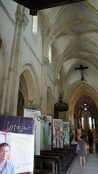 Église d'Hermonville accueillant l'événement art et jazz.