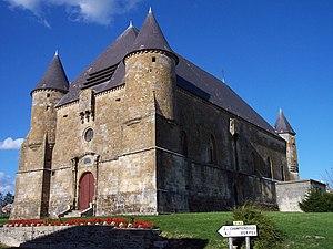 Saint-Juvin - Image: Église fortifiée de Saint Juvin