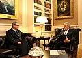 Συνάντηση ΥΠΕΞ Δ. Αβραμόπουλου με τον Ειδικό Σύμβουλο του Γ.Γ. ΟΗΕ Α. Downer (8679927977).jpg