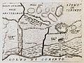 Χάρτης της περιοχής της Κορίνθου με κάτοψη του κάστρου του Ακροκό - Coronelli Vincenzo Maria - 1708.jpg