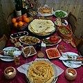 Бадникова вечера - сарма, бадникова погача, макало, пинџур, ајвар.jpg