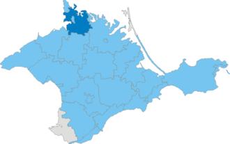 Krasnoperekopsk Raion - Image: Карта схема Крыма Красноперекопский район