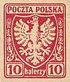 Марка первого стандартного выпуска межвоенной Польши.jpg