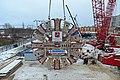 Монтаж ротора ТПМК на Кожуховской линии метро.jpg