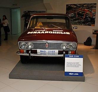 VAZ-2103 - Image: Первый миллионный автомобиль ВАЗа
