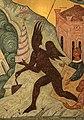 Супостат с Вавилонской башней фрагмент иконы Новорусская Богоматерь.jpg