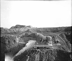 Lion of Babylon (statue) - Lion of Babylon in 1909