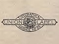 """""""UNION LABEL"""" """"TYPOGRAPHICAL WASHOE NO. 65"""" - Catalogue of the Nevada mineral exhibit, Paris exposition, 1900 - (IA catalogueofnevad00nevarich) (page 20 crop).jpg"""