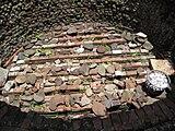 牡蛎灰を生産した窯の内部