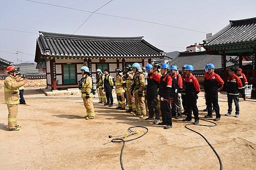 홍천소방서 산불진압 및 문화재 합동 소방훈련(홍천향교) DSC 4343