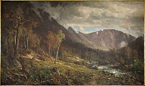 Crawford Notch - Crawford Notch (1867), by Thomas Hill (1829–1908), looking north, collection of the New Hampshire Historical Society