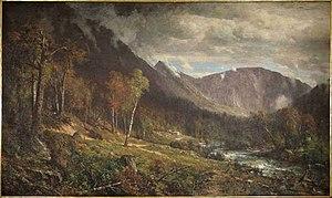 White Mountain art - Image: 18 Hill, T., Crawford Notch, 1916.15TN