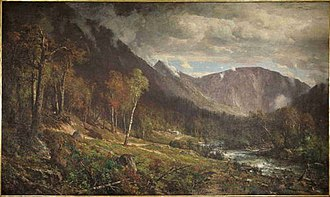 White Mountain art - Image: 18 Hill, T., Crawford Notch, 1916.15TN