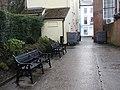 -2019-12-21 Two benches, Saint Nicholas Court, North Walsham, Norfolk.JPG