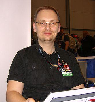 Adi Granov - Granov at the 2011 New York Comic Con