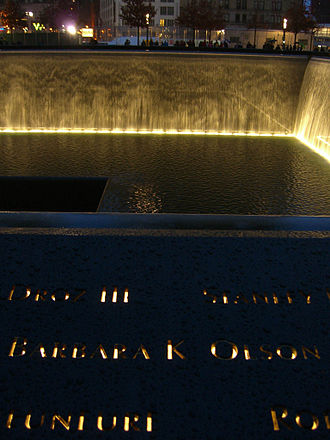 Barbara Olson - Olson's name is located on Panel S-70 of the National September 11 Memorial's South Pool, along with those of other passengers of Flight 77.